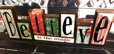 Christmas Block letters