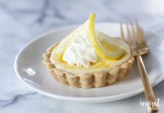 This recipe for Lemon Curd Cheesecake Tarts is the perfect spring dessert.