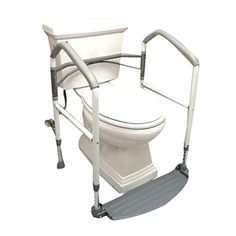 Systematic Removable Foldable Commode Toilet Safety Chair Bedside Shower Bathroom Seat Adult Potty Adjustable Height Lightweight Durable Bathroom Chairs & Stools