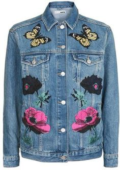 Enjoy Spring all season long in this denim + floral jacket.