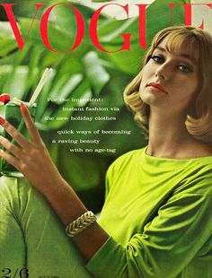 Vogue July 1961 COVER: Eugene Vernier MODEL: Tania Mallet