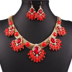 ✨ Host Pick ✨ Set of Red Necklace and Earrings Gorgeous and glamorous! Jewelry Necklaces