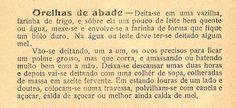 As Receitas da Avó Helena e da Avó Eduarda: Orelhas de Abade
