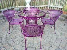 Purple Patio Set ...