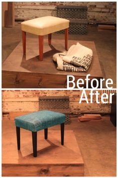 Burlap Coffee Sack + Dated Bench= Gorgeous Seating