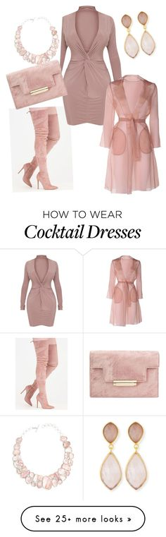 """""""Blushing to Party"""" by amberrsinclair on Polyvore featuring MaxMara, Poppy Jewellery and Dina Mackney"""