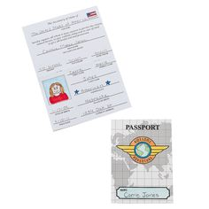 Color Your Own All About Me Passports - OrientalTrading.com