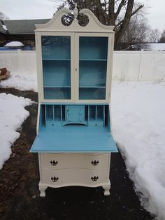 Heir and Space: An Antique Painted Secretary