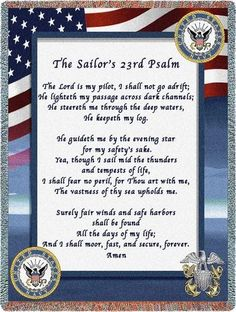Personalized US Navy Poem Military Tapestry Throw