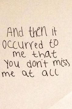 And it broke my heart and liberated me at the same time