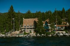 Thunderbird Lodge at Lake Tahoe -gorgeous wedding venue!
