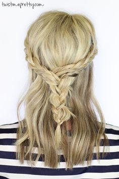 Gorgeous braids for medium length hair | DIY
