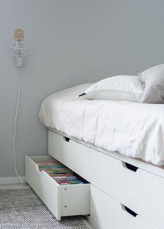 New children room loft ikea hacks 32 Ideas Room Design Bedroom, Girls Bedroom, Bedroom Decor, Ikea Nordli, Diy Daybed, Ikea Storage, New Room, Bed Frame, Room Inspiration