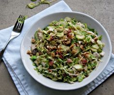 Brussels Sprout Salad with Bacon Recipe | Paleo inspired, real food
