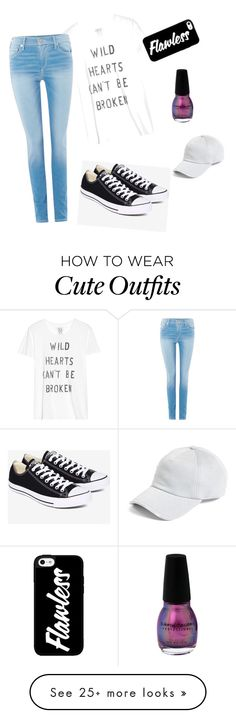 """""""Cute school outfit!"""" by cfinneamon on Polyvore featuring Zoe Karssen, True Religion, Converse and rag & bone"""