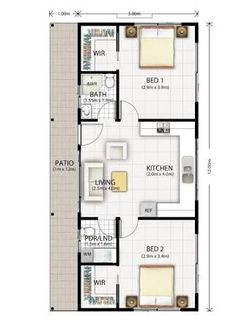 Image result for converting a 12m x 6m garage into a 2 bedroom granny flat