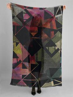 Helen Dealtry scarf design