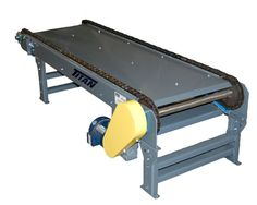 Designed to move products that a standard roller conveyor can't, the Titan Model 680 Multi - strand Chain Conveyor features a durable formed 7 gauge steel construction frame and is equipped with a standard double pitch chain that provides a 2,400 pound load capacity.