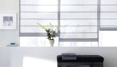 aventura roman shade | sheer elegance | silver .... I like as much light as possible and getting very tired of drapes, blinds ...