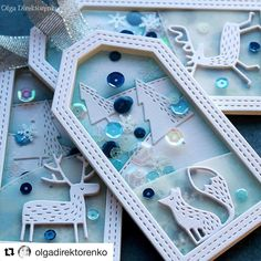 ow adorable are these blue tags by from Ukraine 🇺🇦? The sequins, the layering effect and the details of the dies are Create Christmas Cards, Christmas Tag, Christmas Crafts, White Christmas, Handmade Gift Tags, Holiday Gift Tags, Candy Cards, Embossed Cards, Scrapbooking