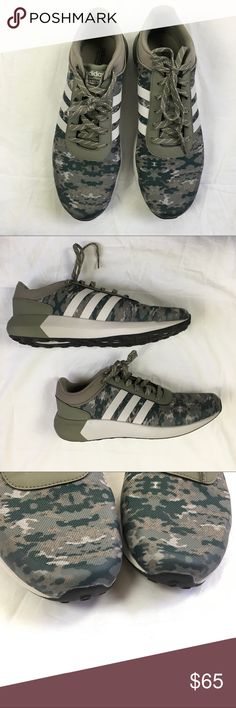 Adidas men's sneakers Adidas Cloudfoam Race sneakers. Size 12 men's. Camo print. Amazing condition-only wear is on the bottoms and it's minimal. adidas Shoes Sneakers