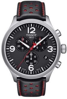 6bc3ed4270d Tissot T-Sport Chronograph Leather Strap Watch