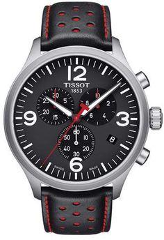 e0bf711e14f Tissot T-Sport Chronograph Leather Strap Watch