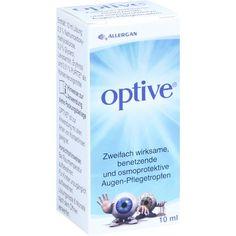 OPTIVE Augentropfen:   Packungsinhalt: 10 ml Augentropfen PZN: 01909178 Hersteller: Allergan Pharmaceuticals Ireland Preis: 10,75 EUR…