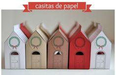 En casa de Tía Gretel: Casitas de papel para regalar