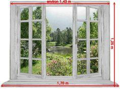 """Créez une ouverture à votre intérieur avec l'une de mes fenêtres """"effet trompe l'œil"""" ouverte sur un paysage réel (poster à suspendre). Voir modèles en suivant. Je peux - 12675813"""