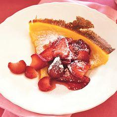 Puffed Pancake with Strawberries recipe   Epicurious.com