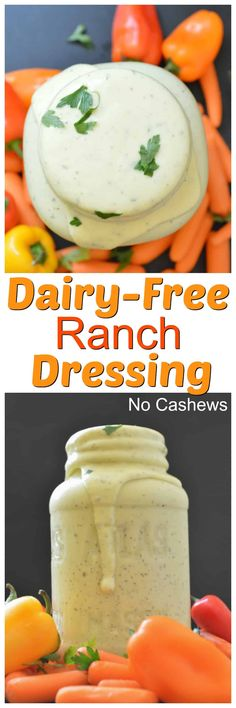 Creamy Ranch dressing that is egg-free, cashew-free, mayo-free and dairy-free.