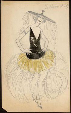paul poiret fashion sketch