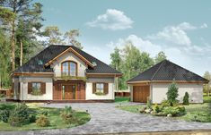 Projekt domu Filip Modern House Design, Home Fashion, House Plans, Farmhouse, Cabin, Mansions, House Styles, Home Decor, Country Houses