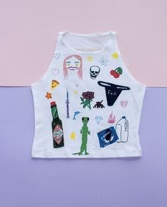 Art Baby Gallery - Sleeveless Crop Top