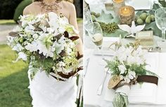 Natural Wedding Bouquets: White And Green - The Wedding SpecialistsThe Wedding Specialists