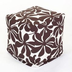 Majestic Home Goods Plantation Bean Bag Cube, Indoor/Outdoor, Green