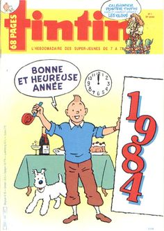 Journal de TINTIN édition Belge N° 1 du 3 Janvier 1984
