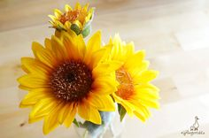 "3 Yellow Sunflower Each stem measures approx. 7 ½"" in length and the listing is for THREE stems: Two with Large flower head – approx. 3 ½"" wide One with Small flower head – approx. 1½"" wide  ** This sunflower can be ordered WITH or WITHOUT the stem.  {Perfect for} - bridal headpiece, wedding crown - hair piece and jewellery making - gift packaging - fairy garden - wedding, anniversary, birthday, party and holiday decorating - scrapbooks and collages Handpicked by Gingertails from Hong Kong…"