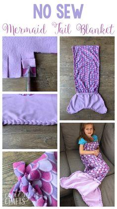 No-Sew Fleece Mermaid Tail Blanket Pattern No-Sew Fleece Meerjungfrau Schwanz Decke Muster – Cutesy Crafts Fleece Crafts, Fleece Projects, No Sew Projects, Wood Projects, No Sew Fleece Blanket, No Sew Blankets, Braided Fleece Blanket Tutorial, Fleece Tie Blankets, Weighted Blanket