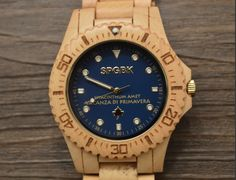 Springbreak Blue Magic Wood Watch  www.springbreakwatches.com