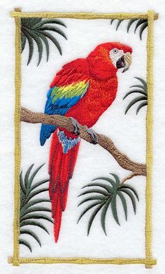 Scarlet Macaw Throw Pillow  Customizable by SimplySusanLeigh, $40.00