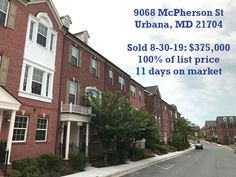 Close to Urbana Town Center. Sold quicker than next door neighbor and at a higher price. Prep makes perfect.