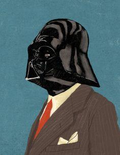 Retro Vader by Spoons Kunz on Flickr. Retro Vader PRINTS AVAILABLE at : society6.com/chasekunz