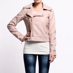 classic, yet girly, yet edgy-- loving all the gold zipper detailing!