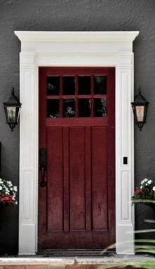 Pantone announced this color of the year as Marsala an \u201cearthy wine red\u201d & center hall colonial front door - Google Search | Front Door ... Pezcame.Com