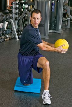 Kneeling Medicine Ball Side Throw Golf Fitness Exercise