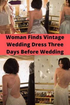 There are still a ton of little things to do the week before your wedding. However, picking out a dress isn't usually on the list.  One bride named Amanda ran into this problem, but she didn't have an entire week to find a gown. She only had three days until she was getting hitched to her man!