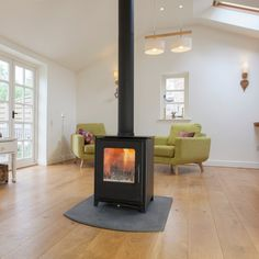 Mendip Loxton 8 Double Sided Multifuel / Woodburning Stove