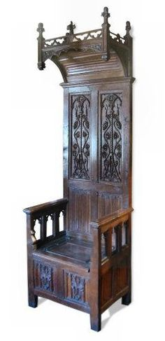 d6a5e6f1d5 Medieval Hooded Chair Medieval Furniture, Gothic Furniture, Cool Furniture,  Vintage Furniture, Gothic